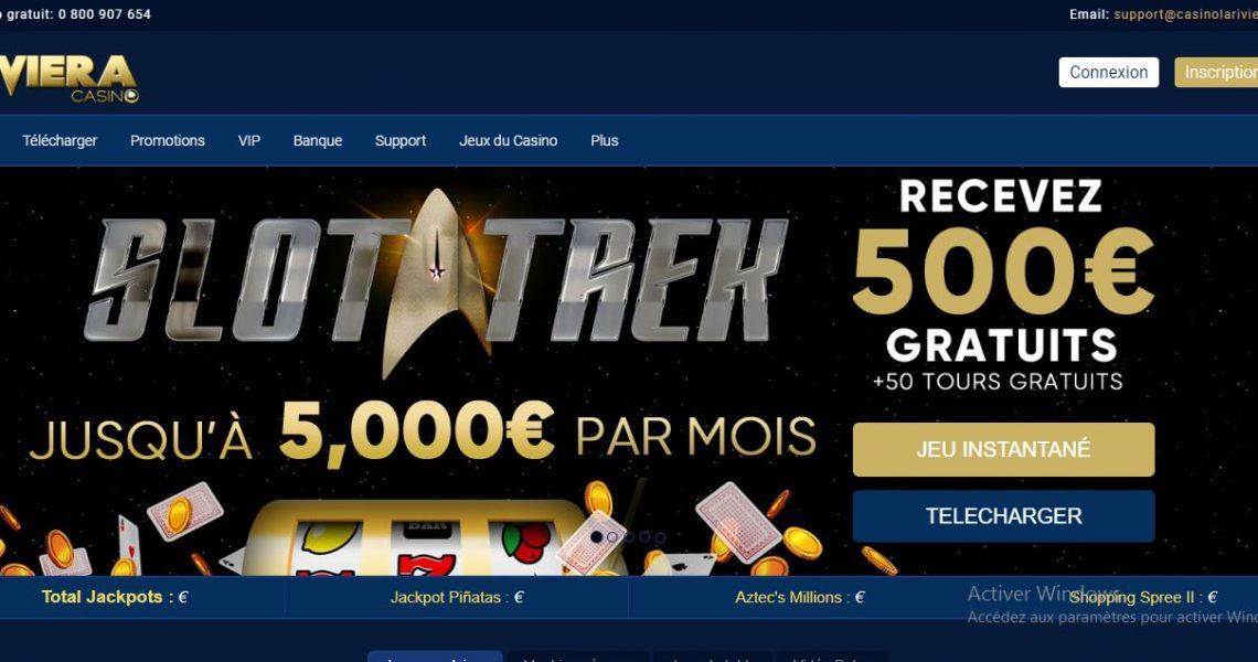 La Riviera Casino avis : 1000€ de bonus et 50 free spins !